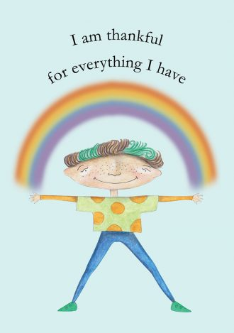 I am thankful affirmation poster